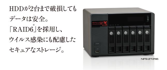 HDDの破損、感染からデータを守る強靭なファイルサーバー 「NFS-2T256」